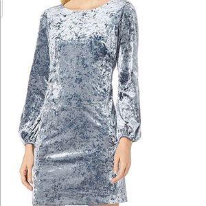 Crushed Velvet Shift Dress